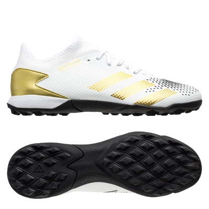 adidas Predator 20.3 L TF FW9189 Inflight – White/ Gold Metallic/ Black