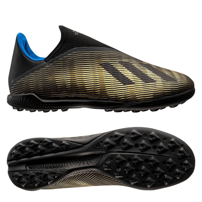 adidas X 19.3 Laceless TF EF0633 Core Black/Gold