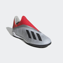 adidas X 19.3 Laceless TF  - Silver/Red/Black