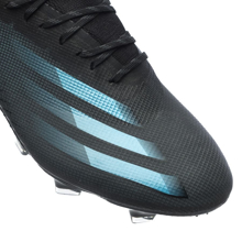 adidas X Ghosted .1 FG/AG Superstealth - Core Black/Signal Cyan