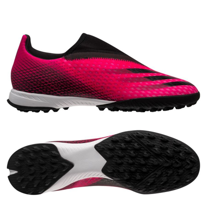 adidas X Ghosted .3 Laceless TF Superspectral - Shock Pink/Core Black/Screaming Orange