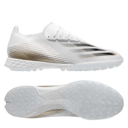 adidas X Ghosted.1 TF EG8173 Inflight - Cloud White/Met.Gold Melange/Core Black