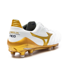 Mizuno Morelia Neo II Made in Japan FG Victory Gold - White/Gold