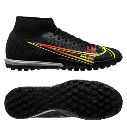 Nike Mercurial Superfly 8 Academy TF Black x Prism - Black/Cyber Yellow/Off Noir
