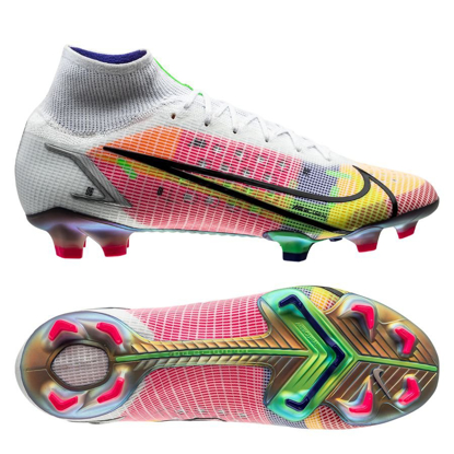 Nike Mercurial Superfly 8 Elite FG Dragonfly - White/Metallic Silver/Dark Raisin LIMITED EDITION