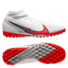 Nike Mercurial Superfly VII Academy TF AT7978-163 White/Photon Dust/Hyper Jade/Flash Crimson