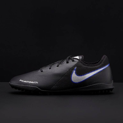 Nike Phantom VSN Shadow Academy TF - Black/Metallic Silver/Racer Blue