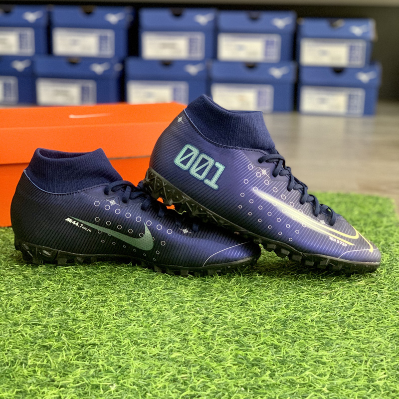 Nike Mercurial Superfly 7 Academy MDS TF BQ5435-401 Blue Void/White/Black/Metallic Silver
