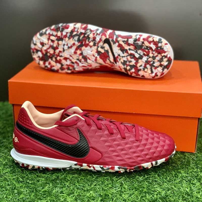 Nike Tiempo Legend 8 Pro TF Play Mode - Cardinal Red/Black/Crimson Tint/White - AT6136-608